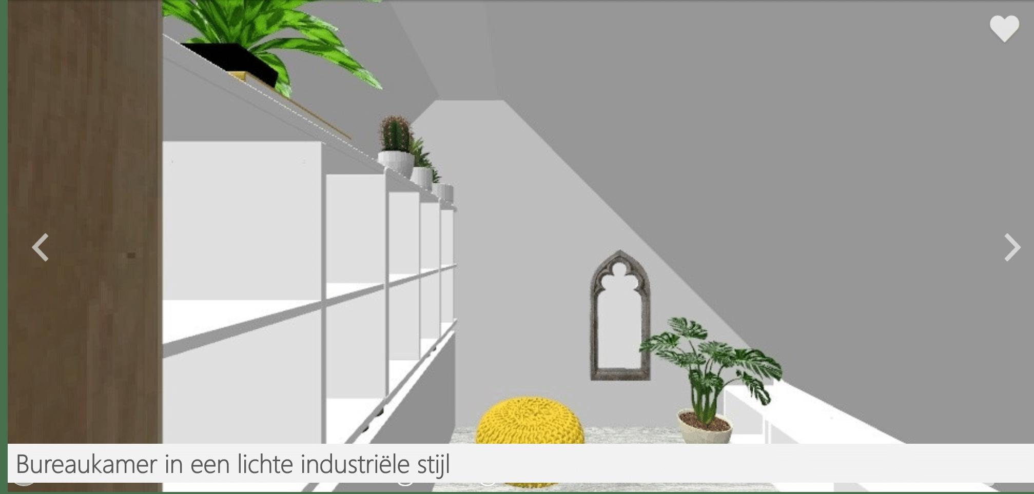 Huisjethuisje-bureau-nis-boeken-industriële-stijl-3D