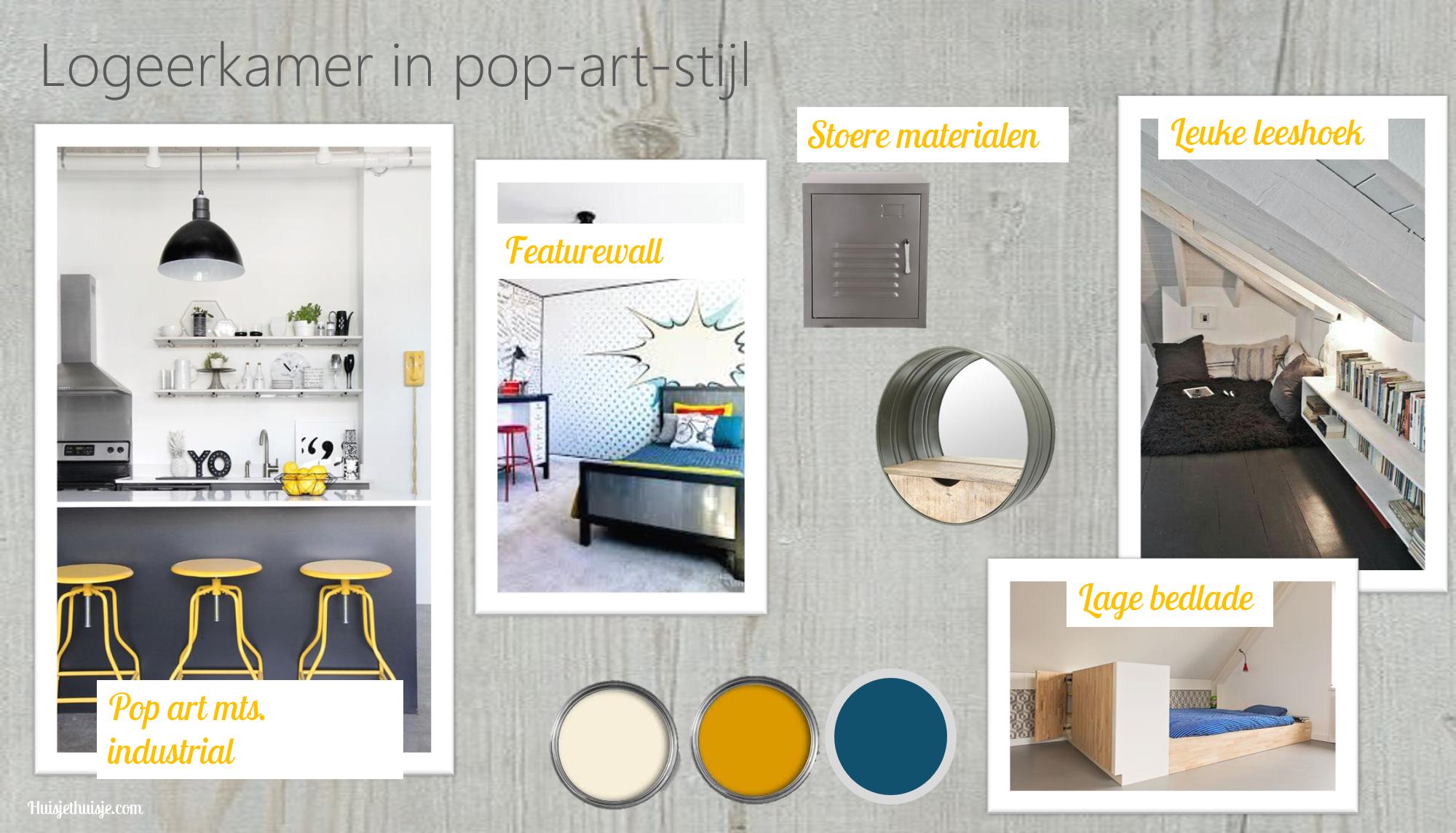 Huisjethuisje-logeerkamer-pop-art-industriële-stijl