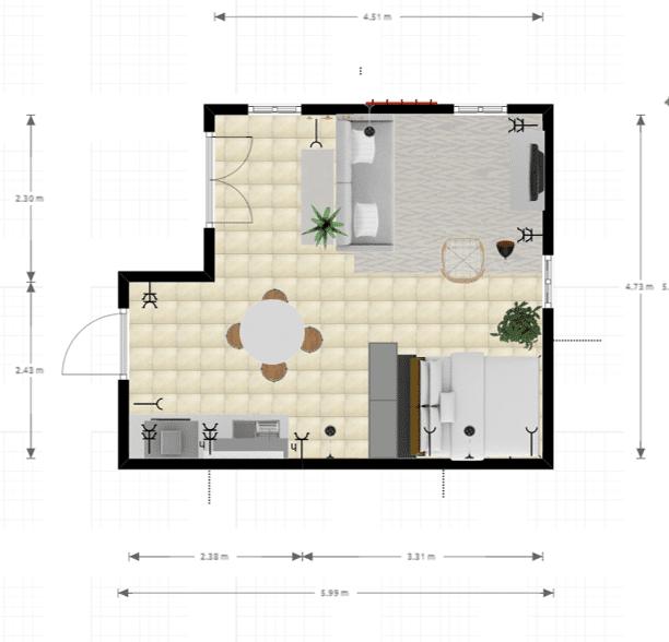 Huisjethuisje-grondplan-studio-min