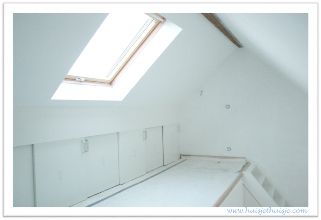 Attic - roof - storage - sliding doors