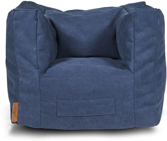 Jollein Stonewashed-Beanbag-Canvas-Navy