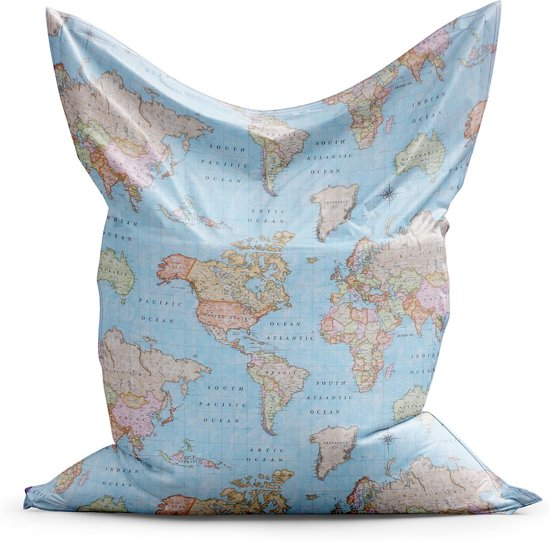 Zitzak-wereldkaart